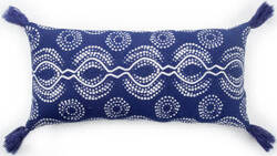 Jaipur Living Cosmic By Nikki Chu Pillow Satin Cnk65 Blue - White