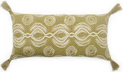 Jaipur Living Cosmic By Nikki Chu Pillow Satin Cnk66 Green - White
