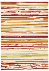 Jaipur Living Colours Sketchy Lines Co18 Snow White - Burnt Orange Area Rug