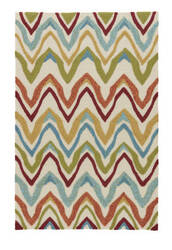 Jaipur Living Coastal Lagoon Bahia Col18 White - Multicolor Area Rug