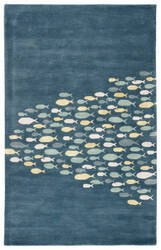 Jaipur Living Coastal Resort Schooled COR01 Captain's Blue - Harbor Gray Area Rug