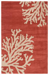 Jaipur Living Coastal Seaside Bough Cos02 Apricot Brandy - Doeskin Area Rug
