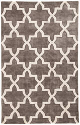 Jaipur Living City Canton Ct84 Charcoal Gray - Bright White Area Rug