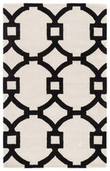 Custom Jaipur Living City Regency Ct95 White Swan - Caviar Area Rug