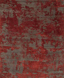 Jaipur Living Project Error Kavi Esk-431 Dark Gray - Red Lacquer Area Rug