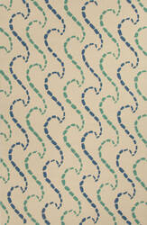 Jaipur Living Grant I-O Ray Hello Gd42 White and Green Area Rug
