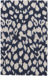Jaipur Living Gramercy By Kate Spade New York Leopard Ikat Gkn49 Dark Navy Area Rug