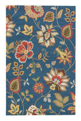 Jaipur Living Hacienda Feria Hac05 Blue Depths - Blue Grotto Area Rug