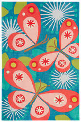 Jaipur Living Iconic By Petit Collage Flutterby Ibp08 Ocean Depth Area Rug