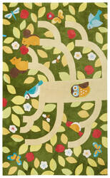 Jaipur Living Iconic By Petit Collage Treetop Ibp11 Chive Area Rug
