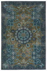 Jaipur Living Kai Modify Kai05 Deep Teal - Avocado Area Rug