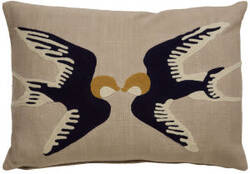 Jaipur Living En Casa By Luli Sanchez Pillow Sparrow Lsc34 Beige - Navy Area Rug