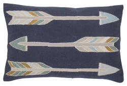 Jaipur Living En Casa By Luli Sanchez Pillow Artemas Lsc38 Indigo - Gray Area Rug