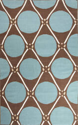 Jaipur Living En Casa By Luli Sanchez Flat-Weave Grid Dot Lsf01 Cyan Blue - Cub Area Rug