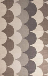 Jaipur Living En Casa By Luli Sanchez Flat-Weave Ripple Lsf07 Wind Chime - Charcoal Gray Area Rug