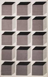 Jaipur Living En Casa By Luli Sanchez Flat-Weave Cubes Lsf17 White/Liquorice Area Rug
