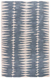 Jaipur Living En Casa By Luli Sanchez Tufted Tear Drops Lst27 Ensign Blue - Bijou Blue Area Rug