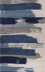 Custom Jaipur Living En Casa By Luli Sanchez Painterly Lst35 Bonnie Blue - Federal Blue Area Rug