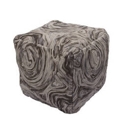 Jaipur Living National Geographic Home Pouf Np-01 Npf02 Moonstruck And Bungee Cord