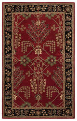 Jaipur Living Poeme Chambery Pm111 Red Ochre - Jet Black Area Rug