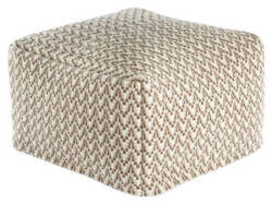 Jaipur Living Scandinavia Pouf Scan05 Scp16 Bungee Cord - Tuffet Area Rug