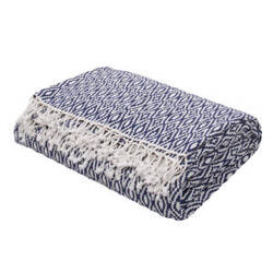 Jaipur Living Spirit Throw Spirit01 Spr01 Insignia Blue And Cloud Dancer