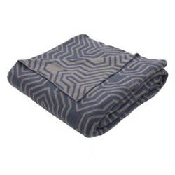 Jaipur Living Trinity Throw Tri-04 Tri10 Neutral Gray And Indian Teal