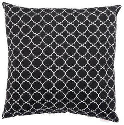Jaipur Living Veranda Pillow Morocco Lattice Ver130 Black - White