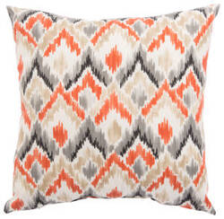 Jaipur Living Veranda Pillow Sainsbury Fresco Ver153 Orange - Gray