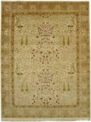 Jerry H Aziz Haj Jalili (16/18 Antiqued) V-1665 Ivory/Ivory(Red Acc) Area Rug