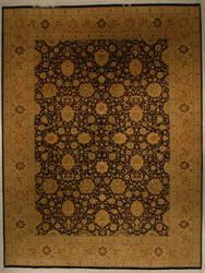 J. Aziz Shah Abbas 1603 Black/Gold Area Rug