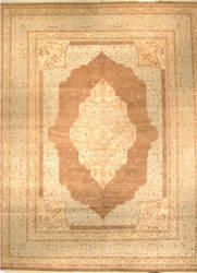 J. Aziz Haj Jalili V-1726 Walnut / Light Blue Area Rug