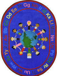 Joy Carpets Kid Essentials A World Of Friends Multi Area Rug