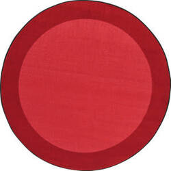 Joy Carpets Kid Essentials All Around Red Area Rug