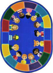 Joy Carpets Kid Essentials All Of Us Together Multi Area Rug