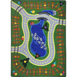 Joy Carpets Kid Essentials Alphabet Express Multi Area Rug