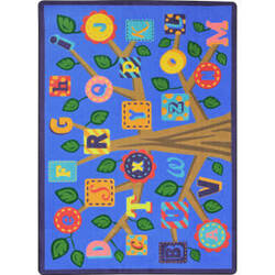 Joy Carpets Kid Essentials Alphabet Leaves Soft Area Rug