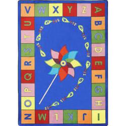 Joy Carpets Kid Essentials Alphabet Pinwheel Multi Area Rug