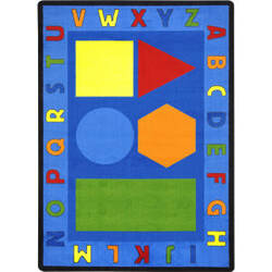 Joy Carpets Kid Essentials Alphabet Shapes Multi Area Rug