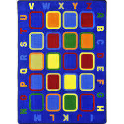 Joy Carpets Kid Essentials Alphabet Tiles Multi Area Rug