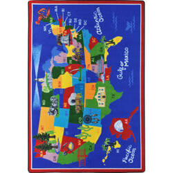Joy Carpets Kid Essentials America The Beautiful Multi Area Rug
