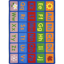 Joy Carpets Kid Essentials Any Day Alphabet Multi Area Rug