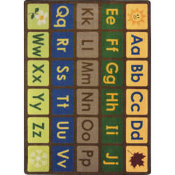 Joy Carpets Kid Essentials Library Blocks Multi Area Rug