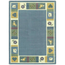 Joy Carpets Kid Essentials Baby Blues Soft Area Rug