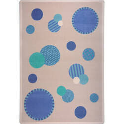 Joy Carpets Playful Patterns Baby Dots Blue Area Rug