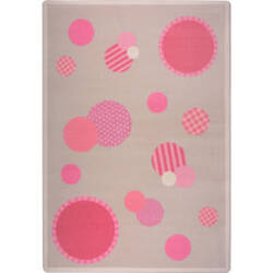 Joy Carpets Playful Patterns Baby Dots Pink Area Rug
