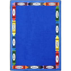 Joy Carpets Kid Essentials Bilingual Colors Multi Area Rug