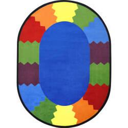 Joy Carpets Kid Essentials Block Party Multi Area Rug