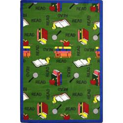 Joy Carpets Kid Essentials Bookworm Green Area Rug