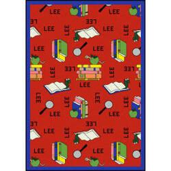 Joy Carpets Kid Essentials Bookworm Spanish Red Area Rug